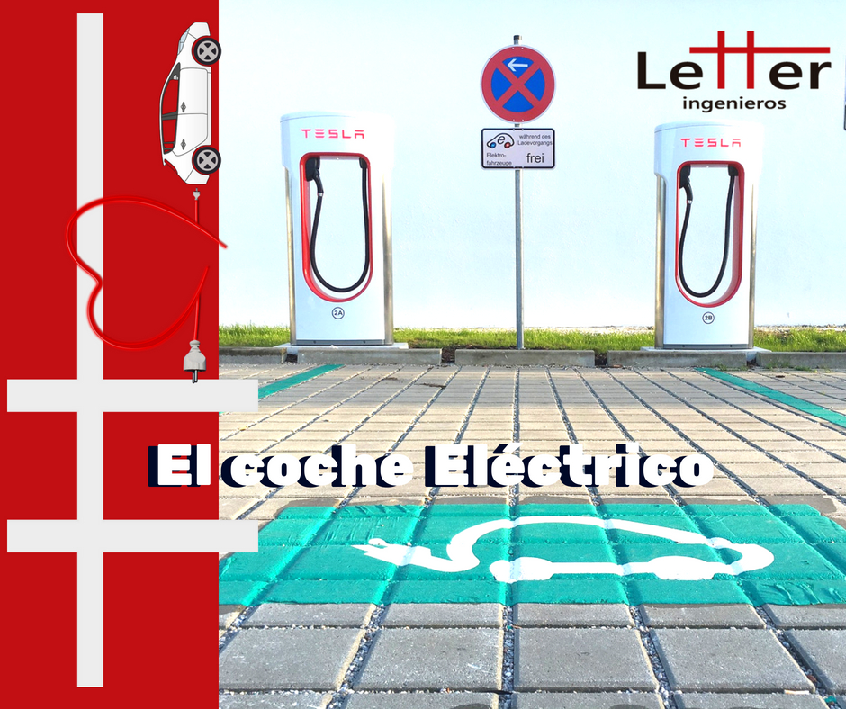 Estación de recarga TESLA de vehículos eléctricos.